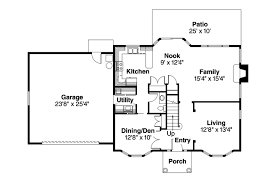 colonial house plan ellsworth 30 222 1st floor plan colonial home