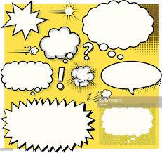 speech bubble activity blank cartoon speech bubbles vector art getty images