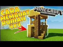 membuat rumah di minecraft cara membuat rumah sederhana 4x4 di minecraft kinotube info