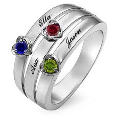 Birthstone Wedding Rings by Personalized Rings Create Your Own Zales