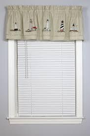 Lighthouse Window Curtains Snapshots Embroidered Lighthouse Valance Curtain Curtain Bath