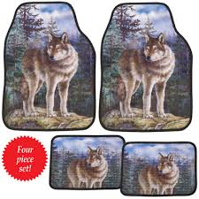 nature wolf car mats set of 4 from collections etc