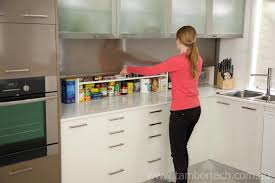 Tambortech Door Secret Splashback Pantry Cupboard Kitchen Pantry - Kitchen cabinet roller doors