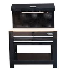 workbench with pegboard and light shop kobalt 45 in w x 36 in h 3 drawer wood work bench at lowes com