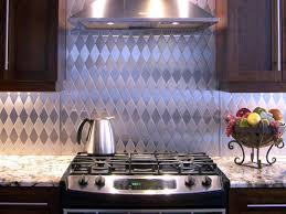home design simpel diy stainless steel backsplash via scattermom