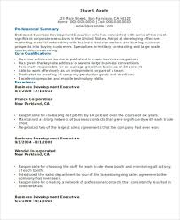 business development executive resume business resume templates