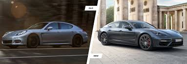 porsche sedan 2016 2017 porsche panamera old vs new compared carwow