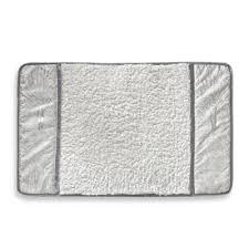 Silver Bathroom Rugs Buy White Silver Bath Rugs From Bed Bath Beyond