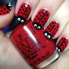 cute red nails easy nail art red and cute nail art