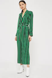 topshop jumpsuit bold striped jumpsuit playsuits jumpsuits clothing topshop