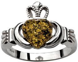 claddagh ring galway green silver claddagh ring