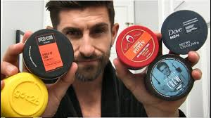 best hair paste for men testing cheap drugstore hair products to find the best dove axe