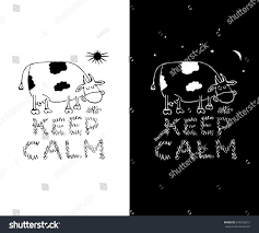 keep calm funny white black tshirt stock vector 642236212
