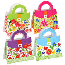 purse gift bags bulk voila large floral purse shaped gift bags at dollartree