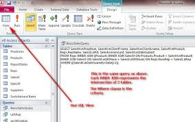 sql query join tutorial access advanced queries