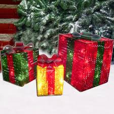 outdoor lighted gift boxes 3d prismatic gift boxes lighted christmas sculpture outdoor