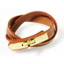 bracelet hermes price images Gold kelly double tour camel leather replica bangle bracelet jpg