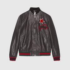gucci men men s outerwear leather jackets