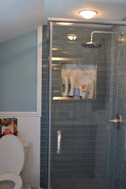 Subway Tile Ideas Bathroom by Ice Gray Glass Subway Tile Subway Tile Showers Subway Tiles And