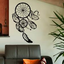 stickers home decor picture more detailed picture about art art design dream catcher vinyl wall sticker home decor feathers night symbol indian decal bedroom livingroom