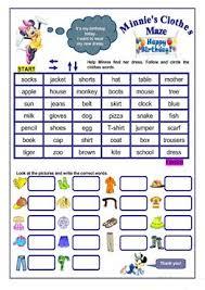722 free esl clothes worksheets