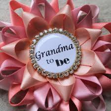 grandma to be pin personalized baby shower corsage new grandma
