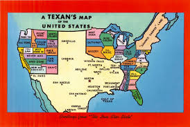 Picture Of The Map Of The United States by Postcard Of The Week A Texan U0027s Map Of The United States U2013 The