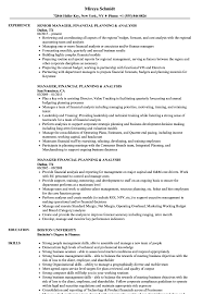financial planning and analysis resume examples manager financial planning resume samples velvet jobs
