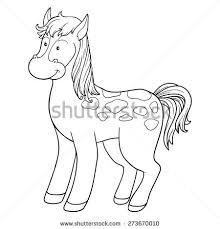 illustration horsecoloring book stock vector 121244443 shutterstock