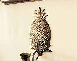 Pineapple Sconce Coastal Candle Wall Sconce Etsy