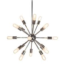 Sputnik Chandelier Decor Living Sputnik 18 Light Polished Nickel Chandelier 751c 32