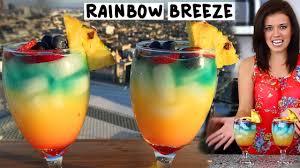 rainbow cocktail recipe rainbow breeze tipsy bartender youtube