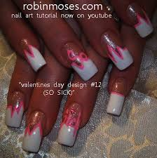 robin moses nail art valentines nails 2012 easy heart nail