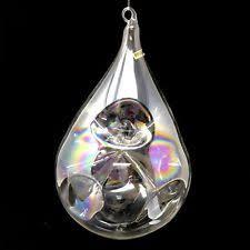 clear glass teardrop ornament ebay