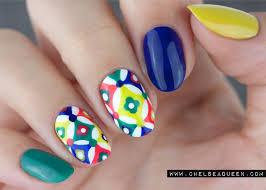 tile nail art www chelseaqueen com nail art pinterest nail nail