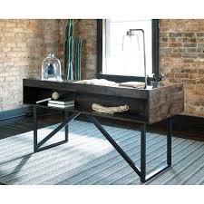 Modern Rustic Desk Modern Rustic Industrial Home Office Desk With Steel Base By