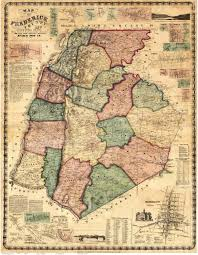 Norfolk County Wall Map Framed Frederick County Maryland 1858 By Isaac Bond Old Wall Map