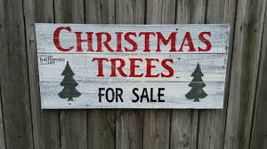 trees for sale sign my repurposed