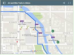 Michigan Trail Maps by Explore Albion River Trail Albion Michigan General Guide To