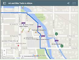 Google Map Michigan by Explore Albion River Trail Albion Michigan General Guide To