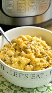 instant pot cheeseburger macaroni the typical mom