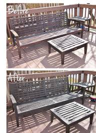 Refinishing Patio Furniture by Bonnieprojects Refinishing Wood Patio Furniture