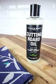 How To Clean And Oil by How To Clean And Oil A Wooden Cutting Board The Creek Line House
