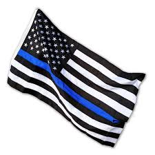 White Flag With Red Cross On Blue Square Thin Blue Line Usa Law Enforcement Products