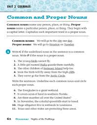 ideas collection common nouns and proper nouns worksheets 4th