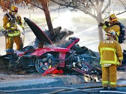 paul walker accident pictures videos car crash death