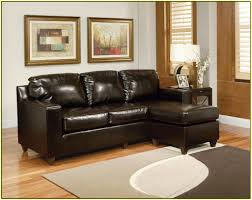 Furniture Black Velvet Sofa Bed With Cushion Placed On Cream - Small leather sofas for small rooms 2