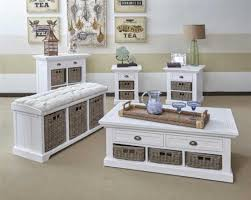 white wood coffee table white wood coffee table set with drawers and rattan baskets home