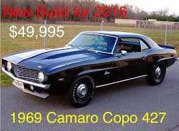 1969 copo camaro price 1969 chevrolet camaro copo 427 build stock 30427 for sale