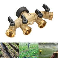 Toch Garden Hose Splitter 2 Way Y Valve Garden Hose Shut Off Valve Hose Pipe Splitter 2 Way Connector Adaptor Garden Tool
